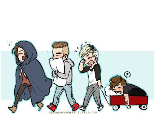 500x393 Cute Drawing Of Our Sleepy Boys On We Heart It