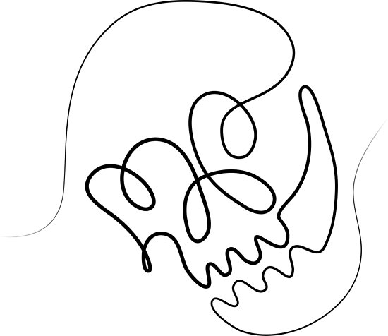 550x476 One Line Skull Posters