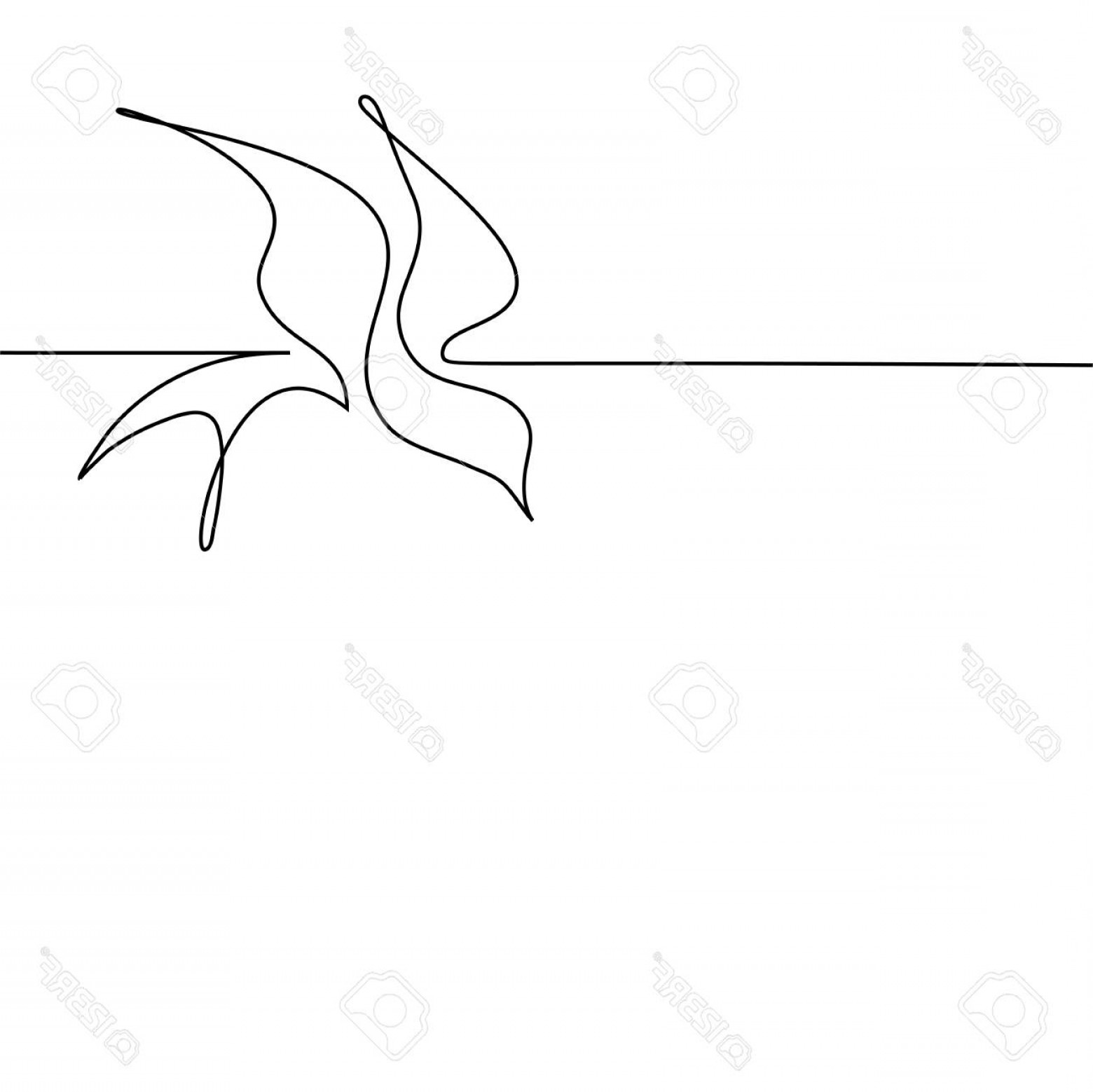 1560x1558 Photostock Vector Continuous One Line Drawing Flying Bird Logo