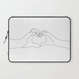 264x264 One Line Drawing Laptop Sleeves