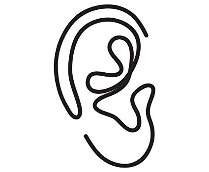 425x350 One Line Ear Drawing Vinyl Decal