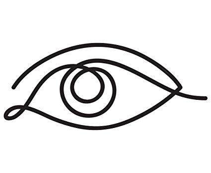 425x350 One Line Eye Drawing Vinyl Decal