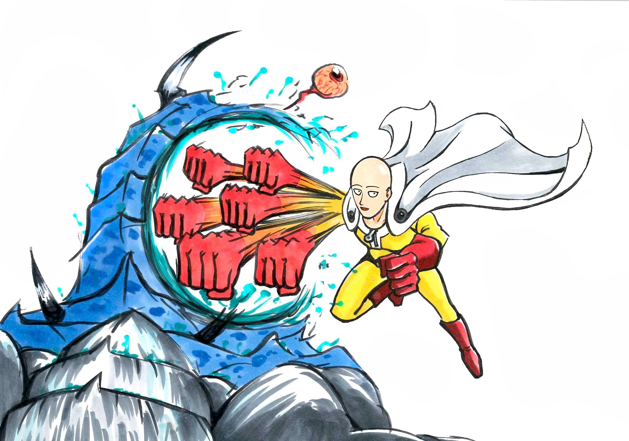 One Punch Man Drawing | Free download on ClipArtMag