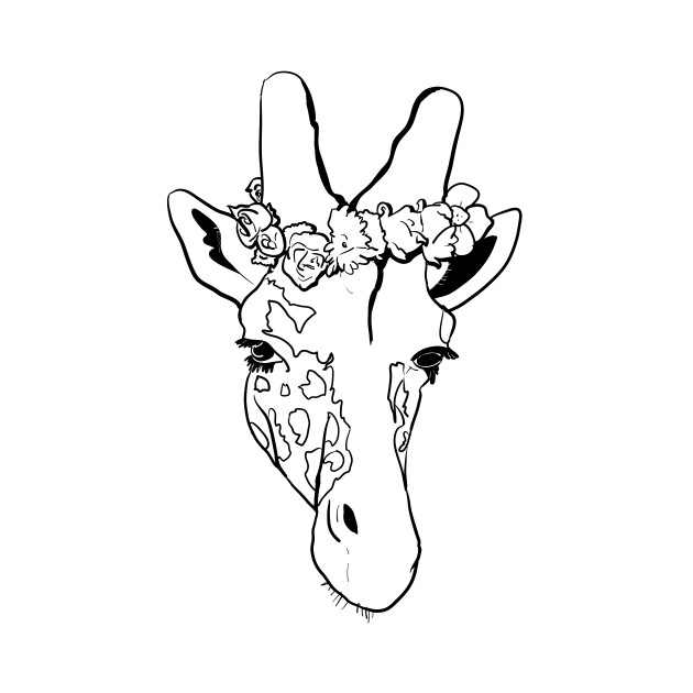 630x630 Onesie Drawing Giraffe For Free Download