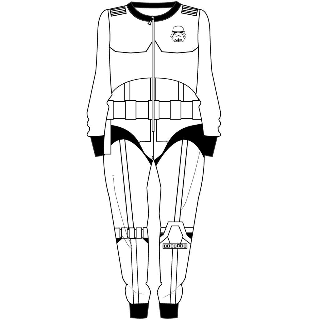 1025x1025 Disney Official License Star Wars Stormtrooper Boy's Onesie