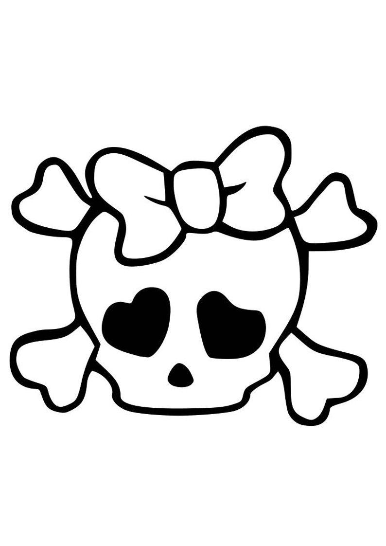 794x1122 Girl Skull Onesie Etsy