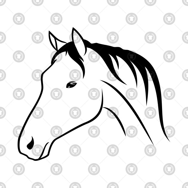 630x630 Horse Drawing T Shirt Horse Drawing