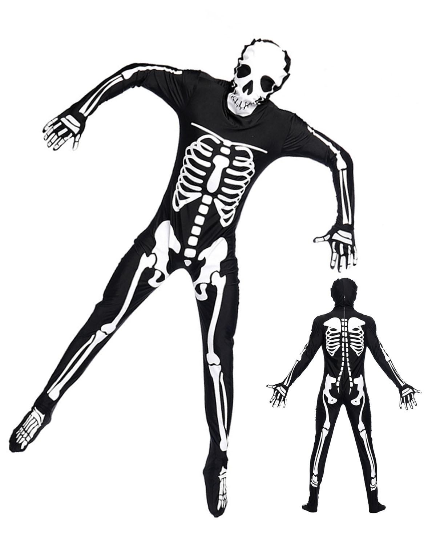 1200x1500 Adult Unisex Skeleton Jack Skellington Onesie Skull Pajamas