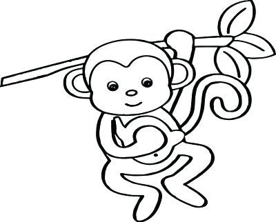 400x322 Baby Monkey Drawing Cute Baby Monkey Drawings How To Draw A Baby