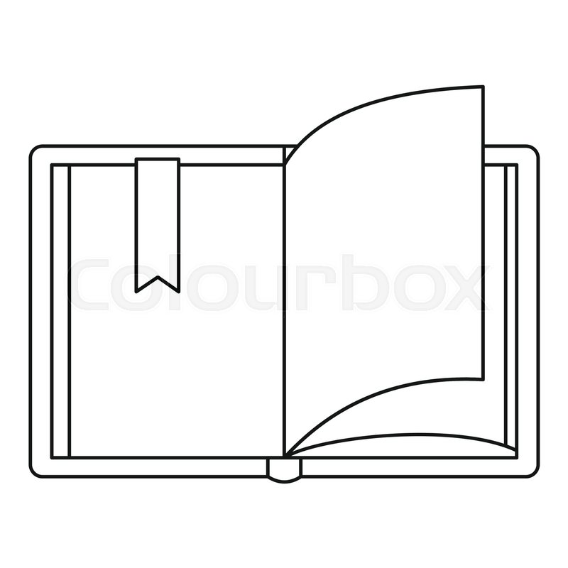 800x800 outline of open book open book icon outline illustration of open