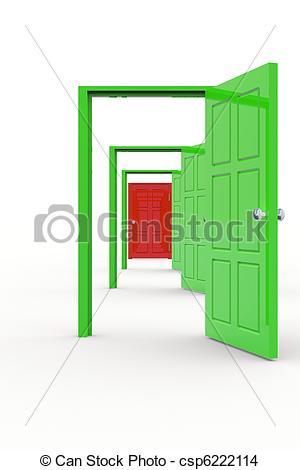 300x470 row of open doors row of colorful open doors concept