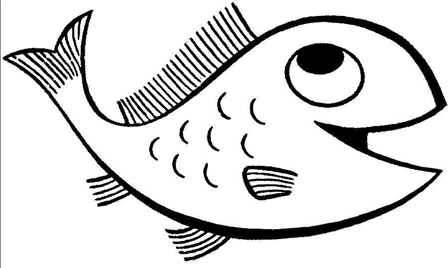 899x538 Fishing Drawing Open Mouth For Free Download