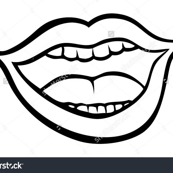 600x600 open mouth clipart collection of open mouth clipart black