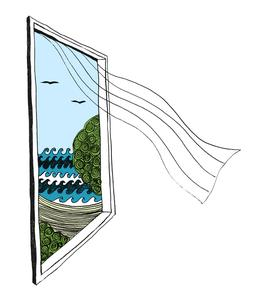 262x300 Open Window With A Breeze Print Sloe Gin Fizz