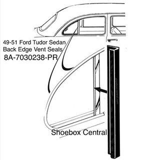 284x320 Pr Ford Tudor Rear Vent Window Vertical Seal