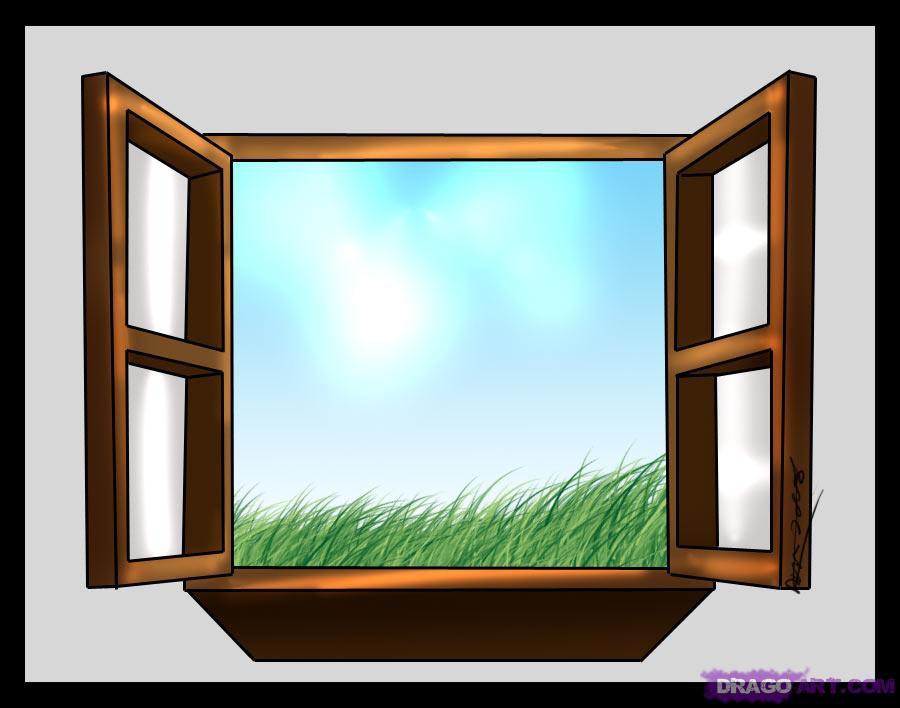 900x708 How To Draw A Window, Step