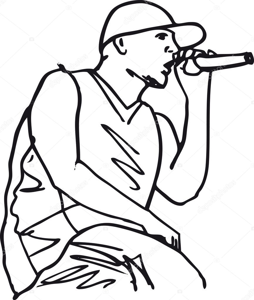 865x1023 singer drawing singer line for free download
