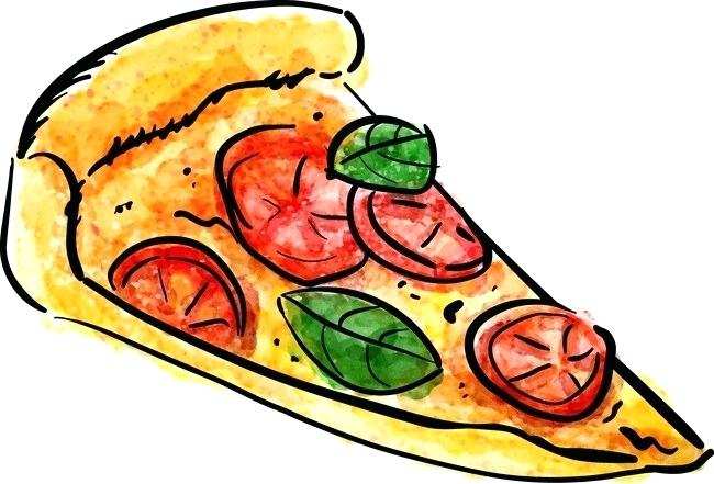 650x441 drawing pizza drawing vector pizza pizza vector watercolor vector