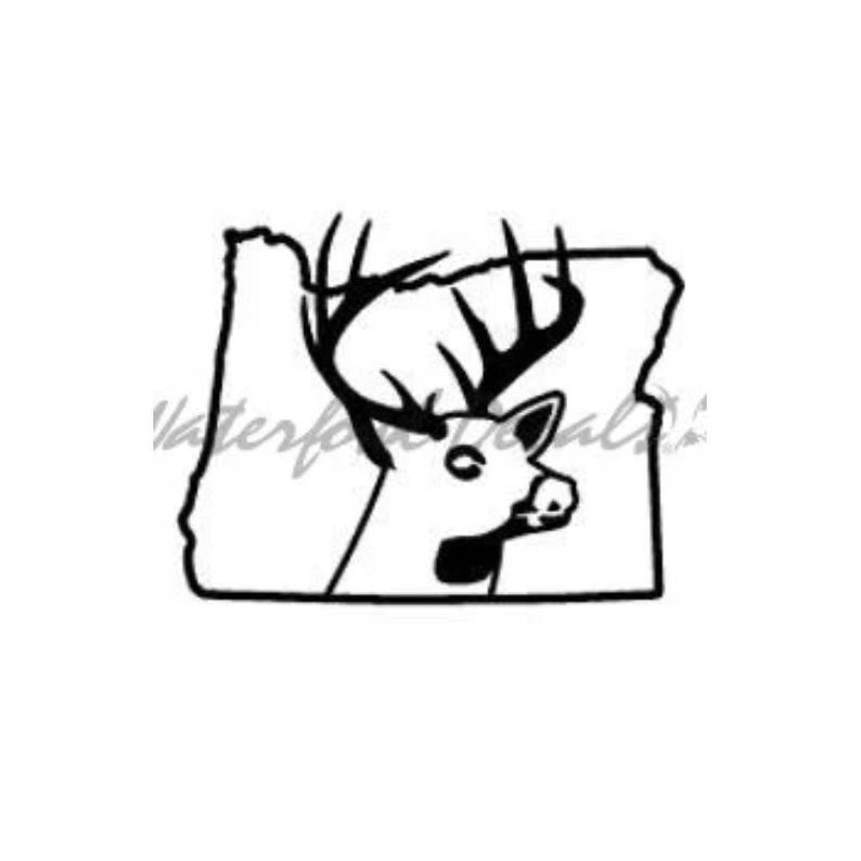 794x794 Oregon Deer State Buck Hunting Car Truck Window Bumper Vinyl Etsy