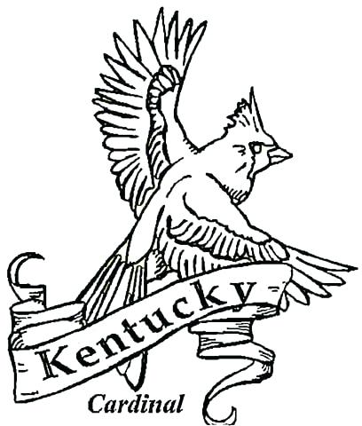 408x480 Kentucky State Flag Coloring