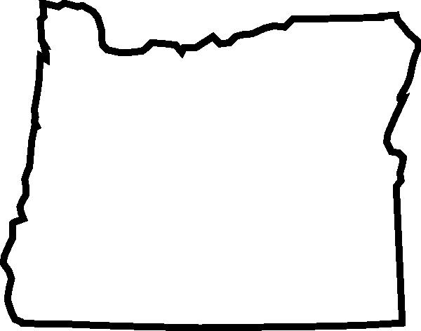 600x472 Oregon Outline Clip Art