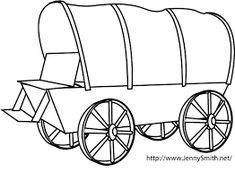 Oregon Trail Wagon Drawing