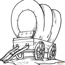 230x230 Stylish Idea Covered Wagon Coloring