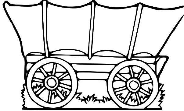 603x366 Covered Wagon Bulletin Board