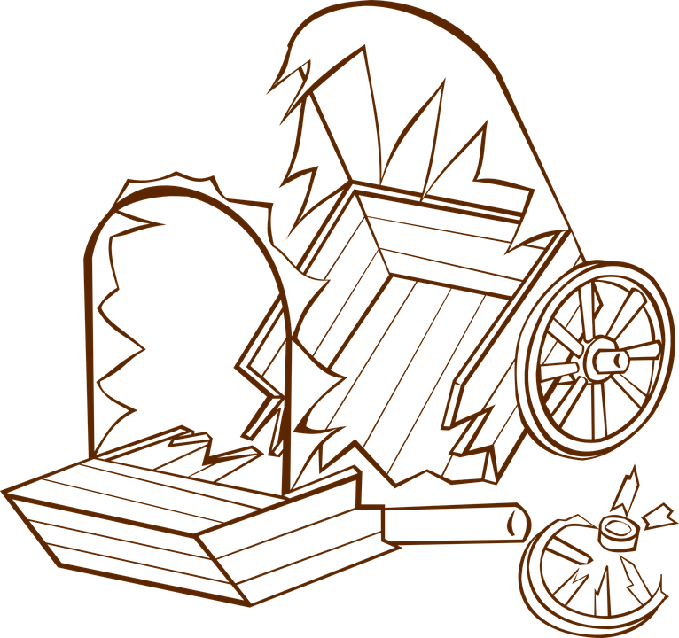 766x720 Collection Of 'old Wagon Drawing' Download More Than Images
