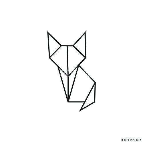 500x500 origami cat origami cat geometric line shape for art of folded