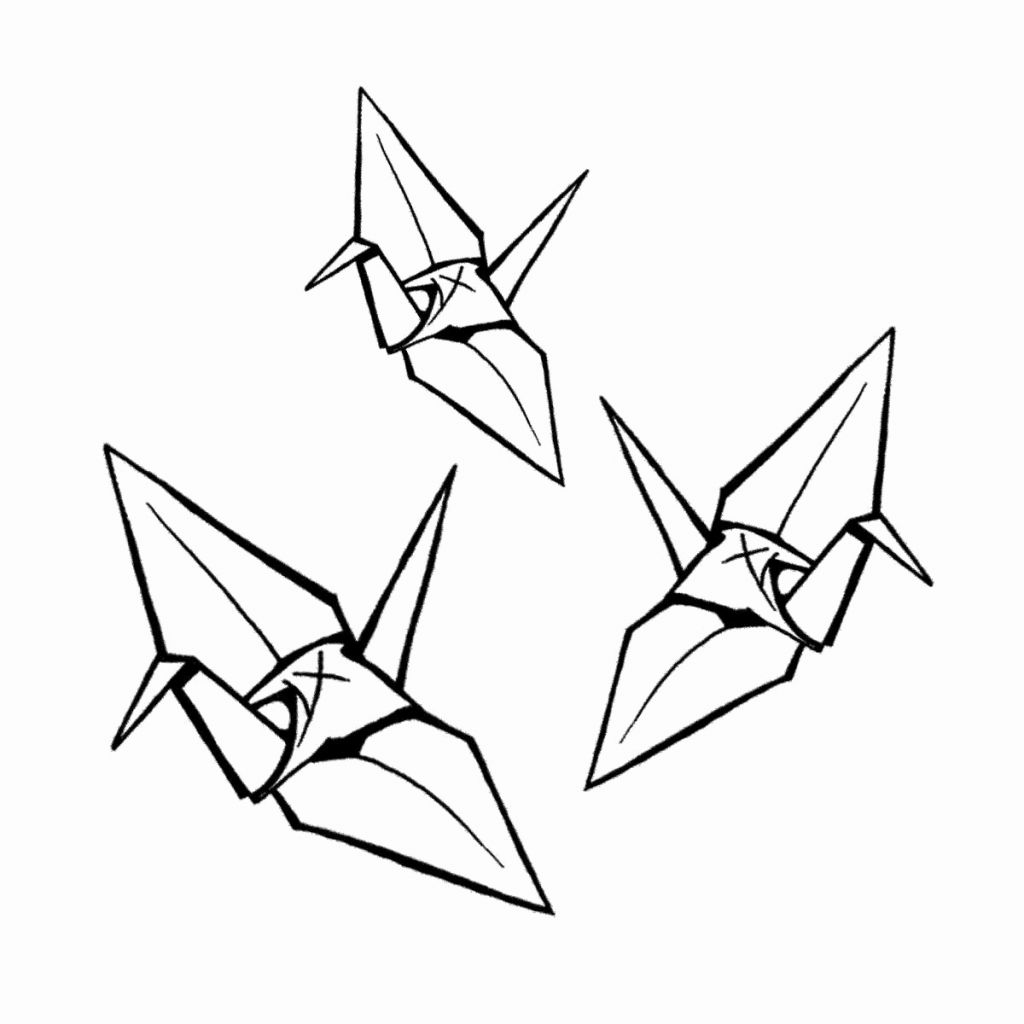 1024x1024 drawing origami tome how to draw origami tobiichi from date