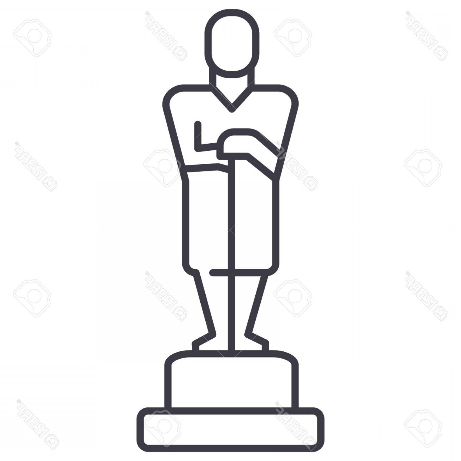 Oscar Statue Drawing   Free download on ClipArtMag