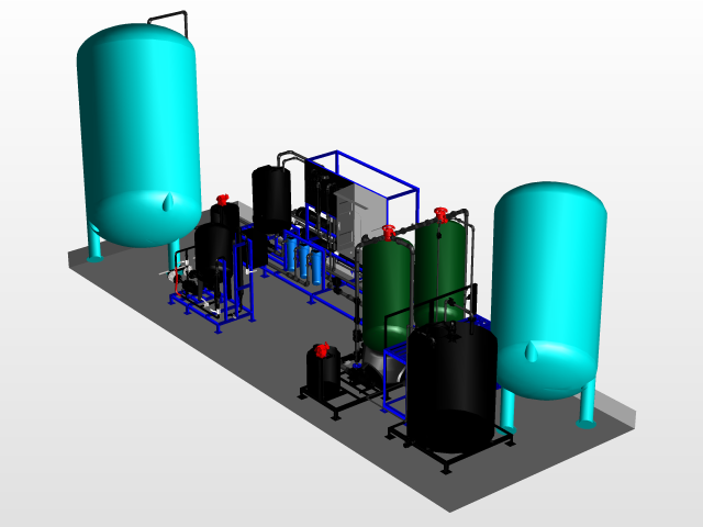 640x480 reverse osmosis system uv disinfection cad model