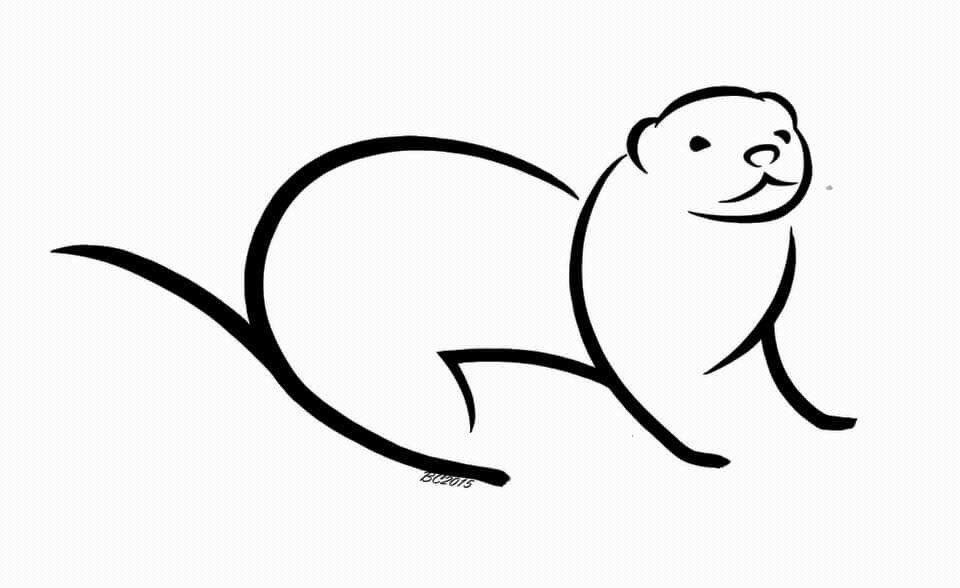Otter Outline Drawing Free Download Best Otter Outline Drawing On