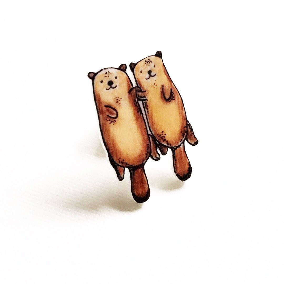 1080x1080 handmade otter pin cute pins otter gift otter pins etsy