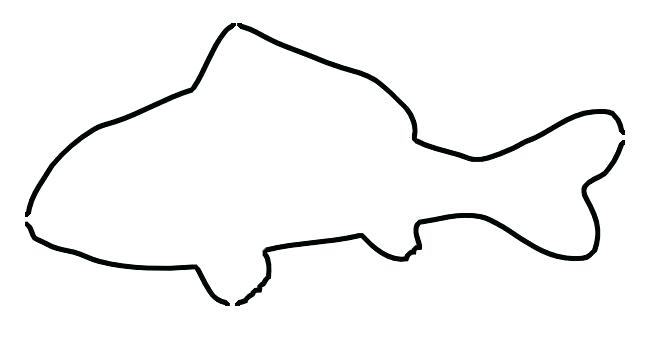 662x338 outline of a fish simple fish outline simple fish outline drawing