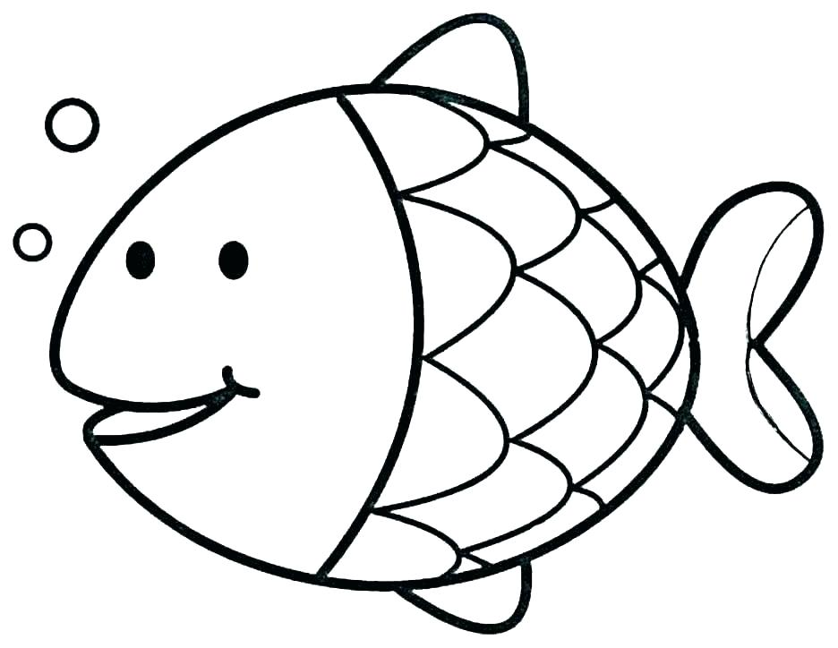 936x724 outline of fish outline fish reliable fish outline drawing at com