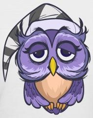 190x241 Cartoon Owl Funny Bird Wildlife Fun Vector Drawing Women's T