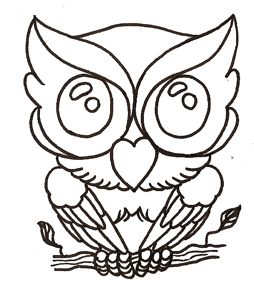 496x572 Cute Owl Design Drawing