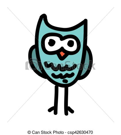 421x470 Cute Owl Drawing Isolated Icon Vector Illustration Design Vectors