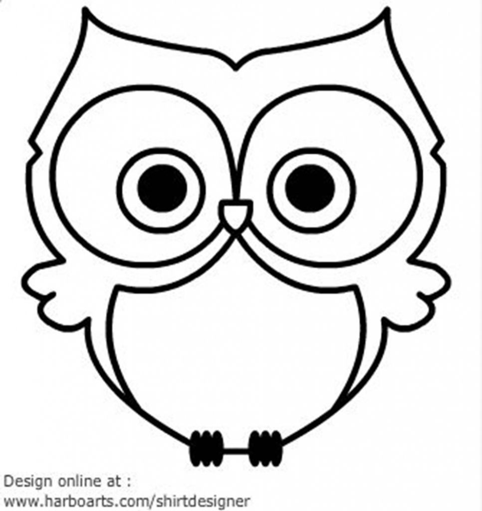 966x1024 Easy Owl Drawing Basic Pictures Free Download Simple