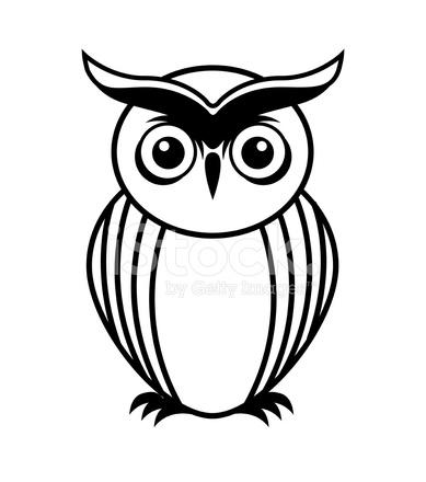 389x440 Owl Design Stock Vector