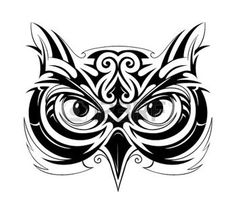 236x223 Best Tribal Owl Tattoos Images Barn Owls, Drawing Owls, Drawings