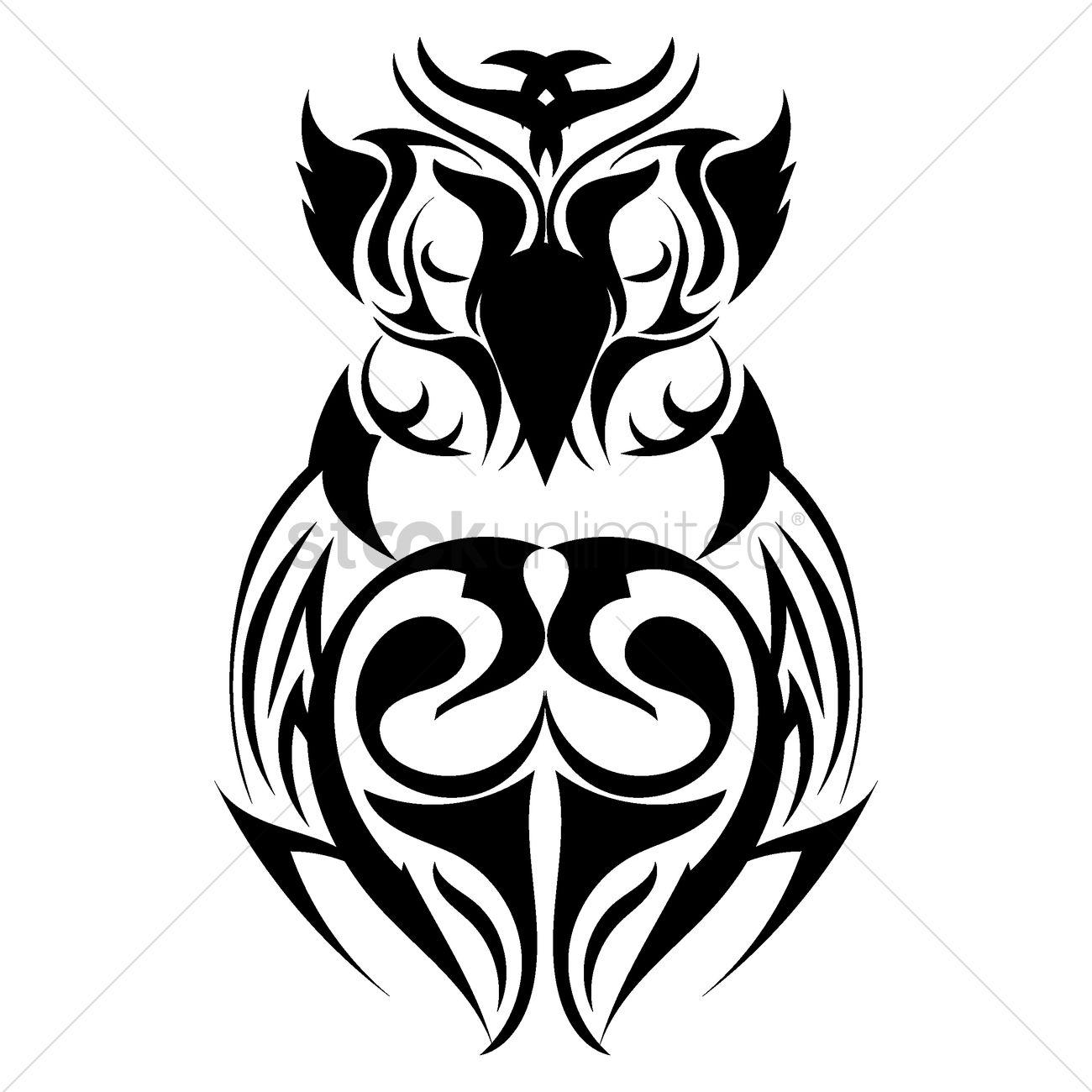 1300x1300 Owl Tattoo Design Vector Image