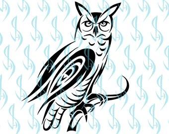 340x270 Tribal Owl Tattoo Etsy