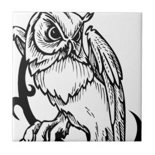 307x307 Stunning Black And White Owl Design