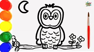 320x180 All Clip Of Color A Owl For Kids