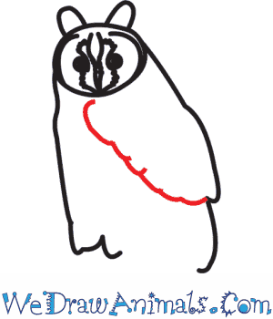 300x350 how to draw a long eared owl
