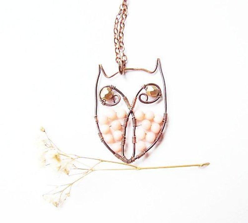 794x713 wire owl tutorial owl necklace jewelry tutorial wire etsy