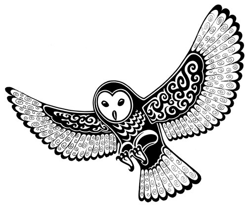 500x416 Barn Owl Tattoos Black And White Ideas And Designs